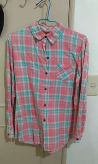 🚚 粉色格紋襯衫