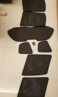 customised Honda fit 2008 - 7pc Magnetic Sunshade