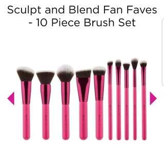 Sculpt and Blend Fan Faves - 10 Piece Brush Set