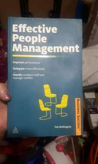 Effective People Management Book