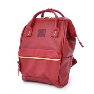 AT-B1212 [Anello] Wine Leather Mini Backpack  100% GENUINE !