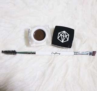 Eyebrow gel cream with brush