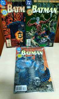 DC Comics BATMAN GLOW in the dark three issues comics set. 1996.
