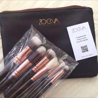 ZOEVA Makeup Brushes 8pc Rose Golden Luxury Set
