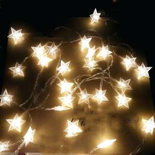 (169) String Lights Led Fairy Battery Operated Five Pointed Star