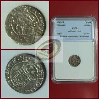 1560-KB Hungary Denar - NNC AU58