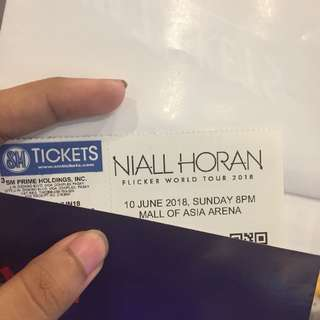 NIALL HORAN FLICKER WORLD TOUR UPPER BOX G-12