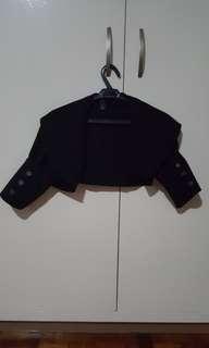Black formal bolero
