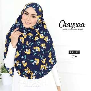 Chayraa double loop instant shawl