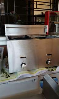 stainless double deep fryer