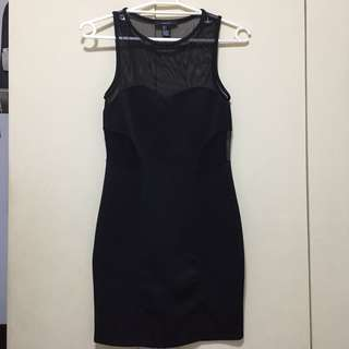 NEW Forever 21 Black bodycon party dress