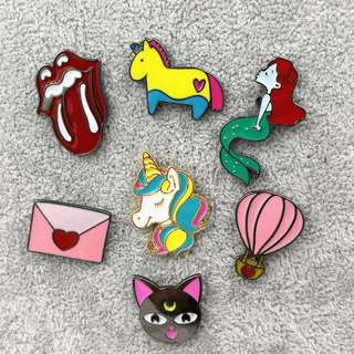 #130 sailor moon cat mermaid tongue unicorn heart cute tumblr enamel pin | po