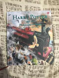 (Free shipping) Harry Potter and The Philosopher's Stone Illustrated Edition