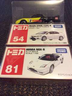 急放全走 TAKARA TOMY Honda Civic Type R .NSX-R.3部GTR