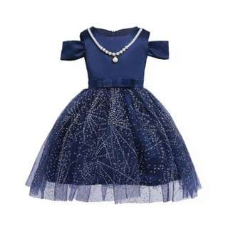 Sequin Princess Blue Dress