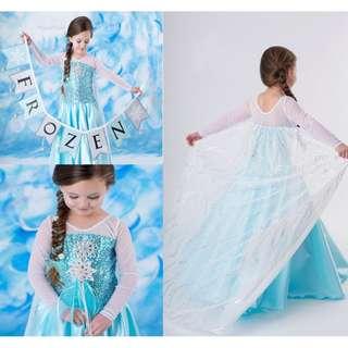 Disney Frozen Elsa Queen Princess Dress Girl Dress Accessory Set