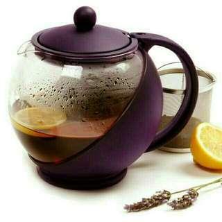 Teapot 1250ml/teko kaca ceret tempat teh saringan stainles