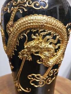 德化白瓷 堆金賞瓶