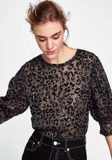 Zara Sequins Top Size M