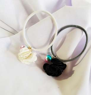 Flower Pearl Hair Tie (As Picture)