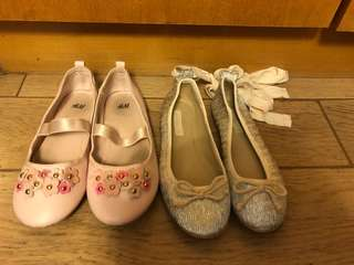 H&M / Zara Girls Ballet Flat Shoe 芭蕾舞鞋  (100% Authentic 真)