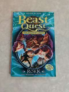 Beast Quest Rokk the walking mountain book