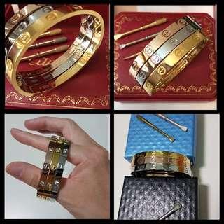 Love bangle bracelet unisex