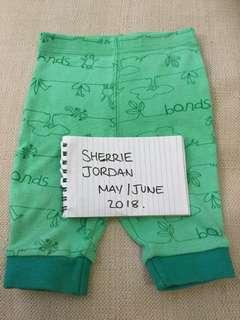 Bonds size 000 pants