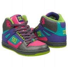 Athletics DC Shoes Women's Rebound Hi Battleship/Purple