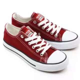 Faster Sepatu Sneakers Casual Kanvas Pria/Wanita 1603-03 - Maroon 36-40 adidas converse All star