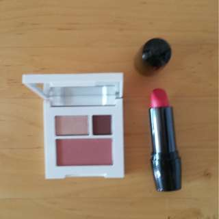 Black Honey and Sunset Glow Eyeshadow, Posh Pink Lipstick