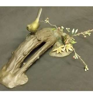 Japanese bronze bird display