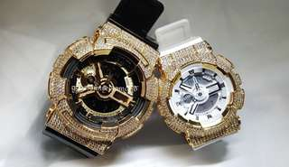 Couple watch customise gold series (ga series + baby g)left is $340/right is $290