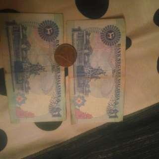 Duit kertas dan syiling lama