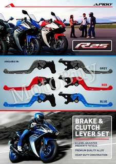 R25 RACING CNC ALLOY BRAKE / CLUTCH LEVER SET ( APIDO )