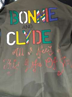 Handpainted Bonnie and Clyde Vintage Military