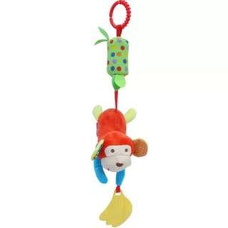 $5 only Monkey rattle toy with wind chime for babies and kids