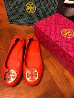 Tory Burch Reva Flat 橙色平底鞋 (100% Authentic 真)