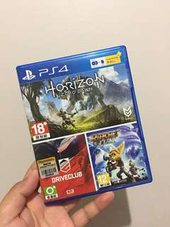 Horizon Zero Dawn Driveclub Ratchet Clank PACKAGE PS4