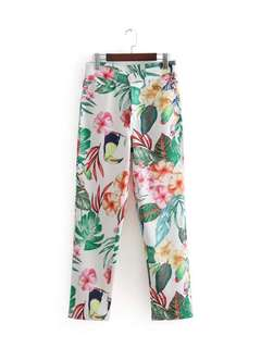 🔥Inspired Zara High Waist Floral Print Trousers