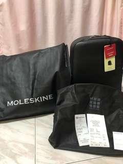 Brand New Unused Moleskine Classic Leather Backpack