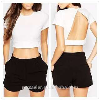 Plain colored crop tops\blouses\sleeveless