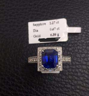 Authentic Ceylon Blue Sapphire with GIA Certificate