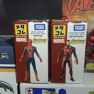 Marvel TOMY Spiderman and Ironman