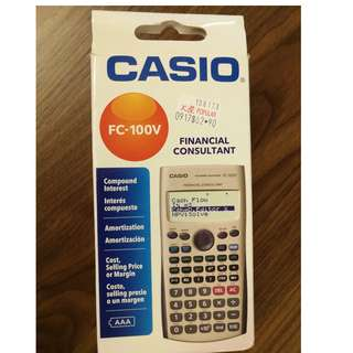 Casio Calculator Model: FC100V Financial Calculator