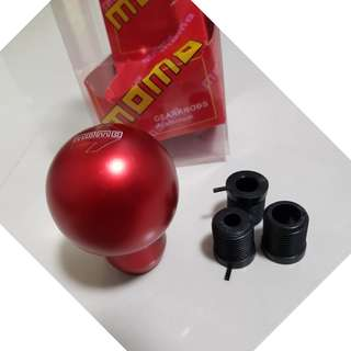 Gear Knob - MOMO ARROW RED GEAR KNOB ROUND series - (BRAND NEW WITH BOX) - RESTOCK