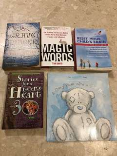 Assorted Literature / Books for Parents, Teens and Young Children