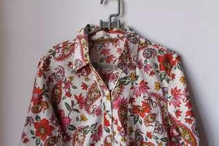 [REPRICE, VERY AFFORDABLE] Mobile Power Woman's Pattern Shirt (kemeja wanita merk Mobile Power)