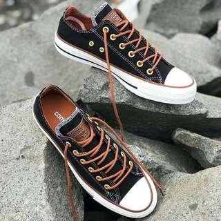 Sepatu converse Ox tan low 100% real pic pria wanita nyaman murah/Aall star/vans/adidas
