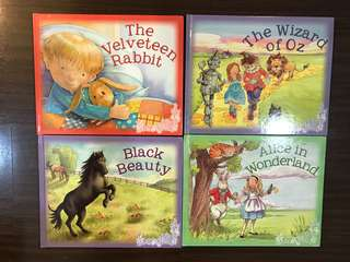 4 Childrens classic book set: all 145hkd